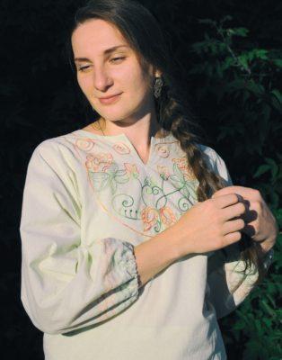 Блуза женская, крестообразный крой
